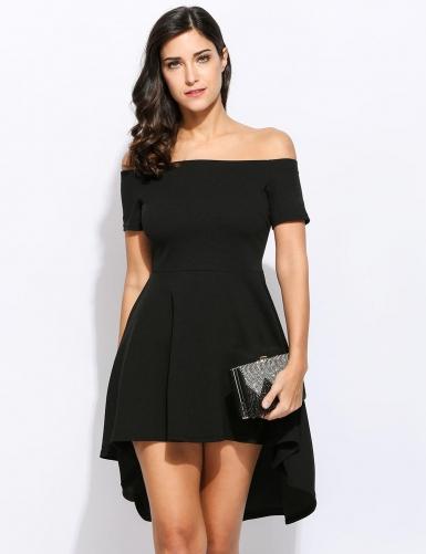 Black Off Party Shoulder Dress