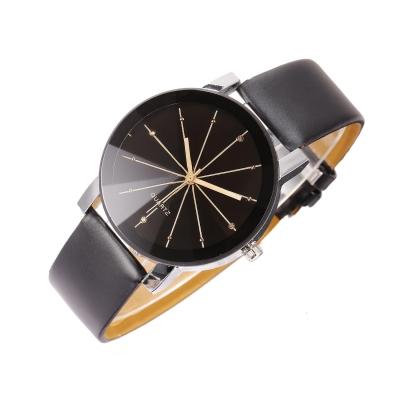 Nová módní kůže Syntetická kůže Meridian Black Analog Quartz Náramkové  hodinky Náramek Bangle c3a7cc1bb3